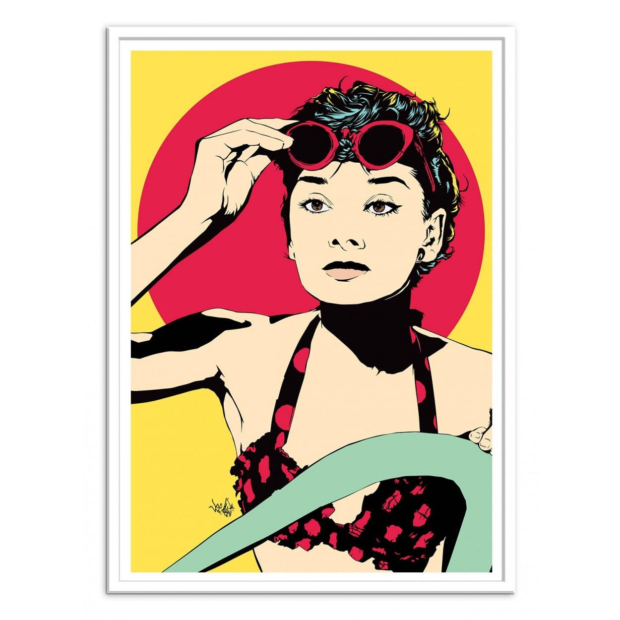 affiche art poster print frame portrait pop art audrey. Black Bedroom Furniture Sets. Home Design Ideas