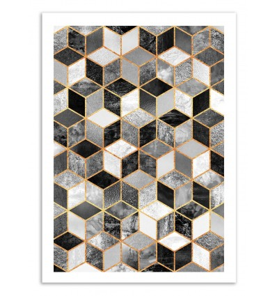 Black and white cubes - Elisabeth Fredriksson