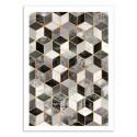 Art-Poster 50 x 70 cm - Black and white cubes - Elisabeth Fredriksson