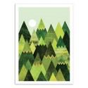 Art-Poster - Forest Mountains - Elisabeth Fredriksson