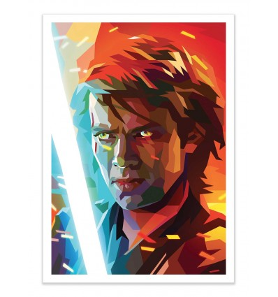 Art Poster Star Wars Anakin Skywalker By Liam Brazier