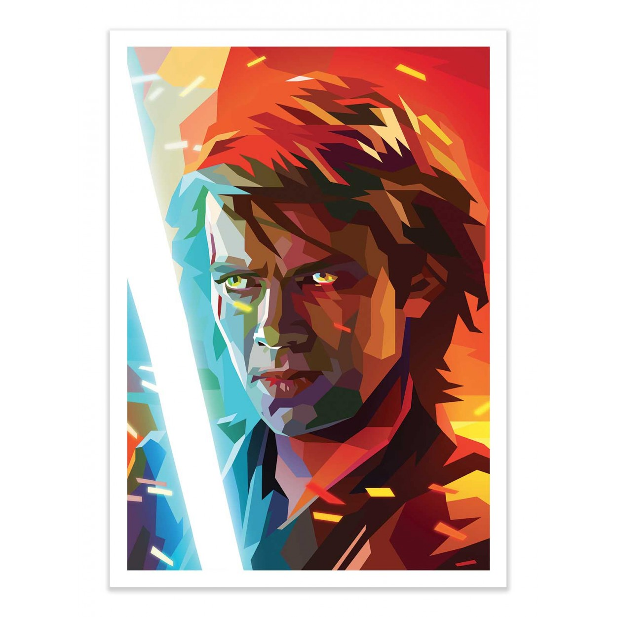 Art Poster Star Wars Anakin Skywalker By Liam Brazier