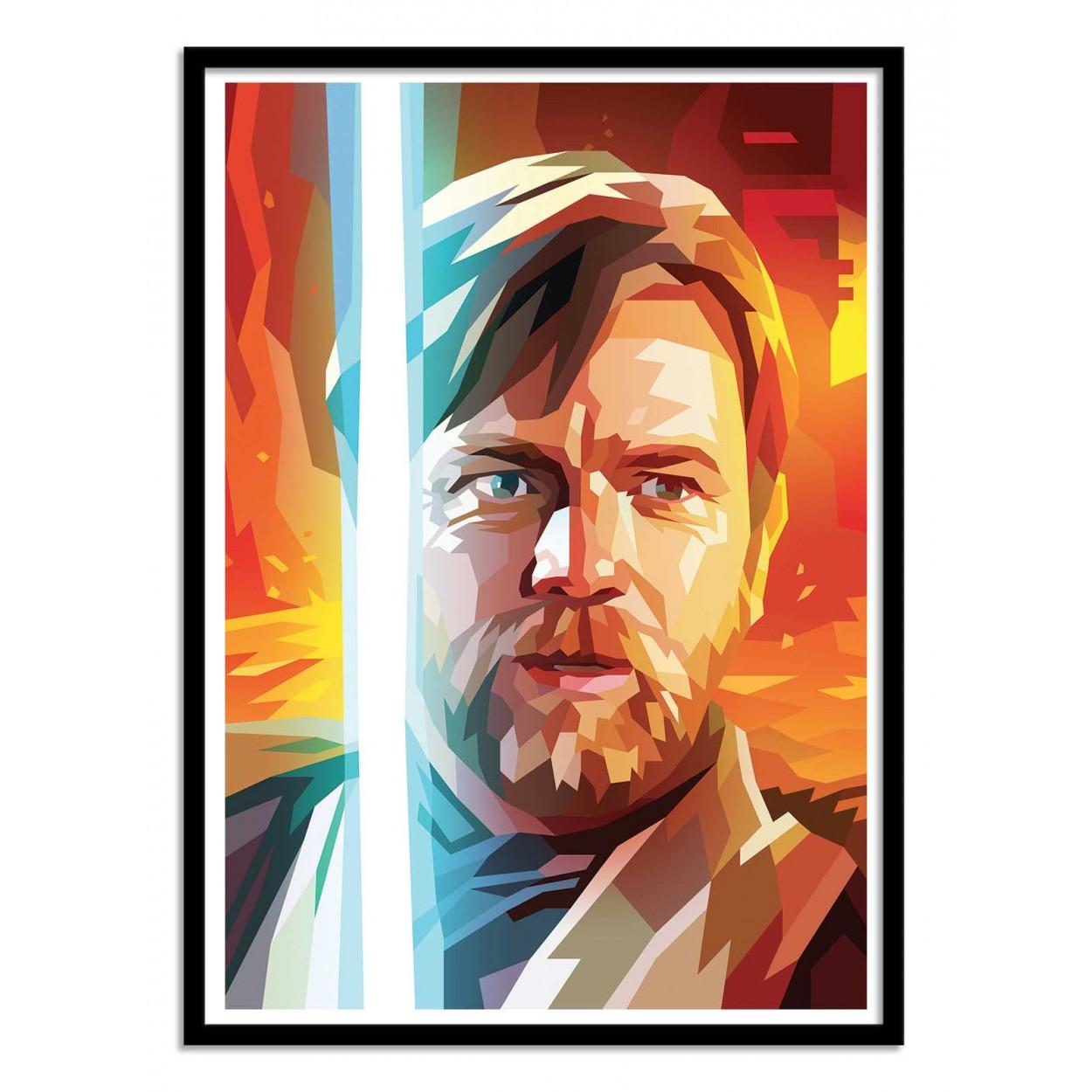 Illustration Art Poster Frame Print Of Star Wars Obi Wan Kenobi