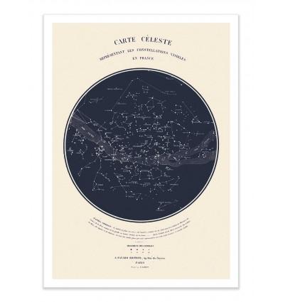 Art-Poster - Carte céleste - Astër