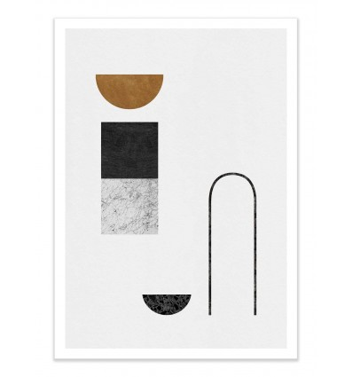 Art-Poster - Abstract Geometric Version 4 - Tracie Andrews