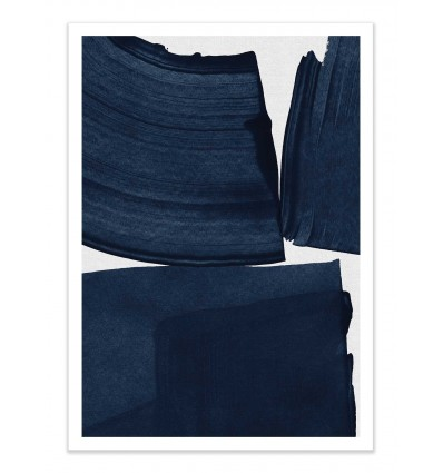 Art-Poster - Minimalist painting blue - Tracie Andrews