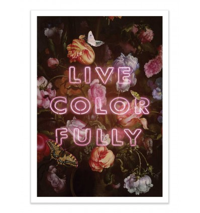 Art-Poster - Live colorfully - Jonas Loose