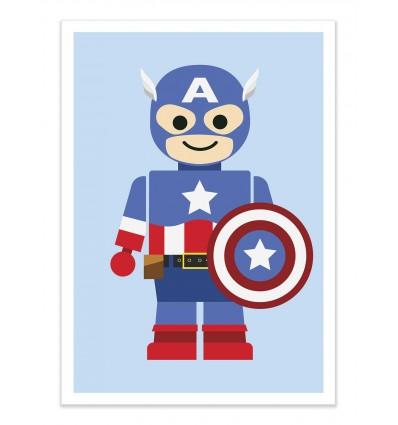 Art-Poster - Captain America Toy - Rafa Gomes