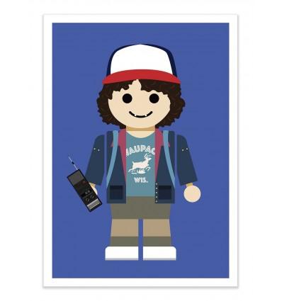 Art-Poster - Dustin Stranger Things Toy - Rafa Gomes