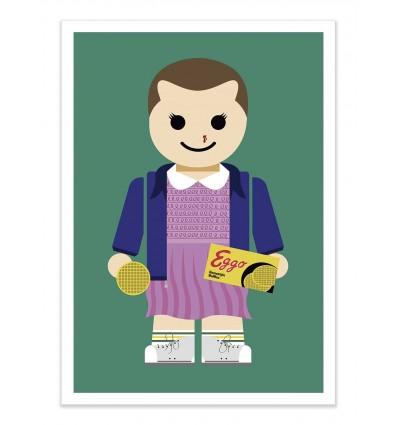 Art-Poster - Eleven Stranger Things Toy - Rafa Gomes