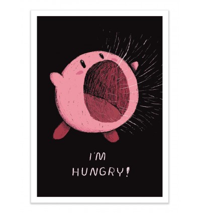 Art-Poster - Kirby is hungry - Louis Roskosch