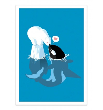 Art-Poster - Orca Polar - Alberto Cubatas