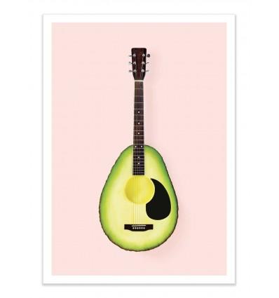 Art-Poster - Avocado Guitar - Paul Fuentes