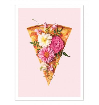 Art-Poster - Floral Pizza - Paul Fuentes