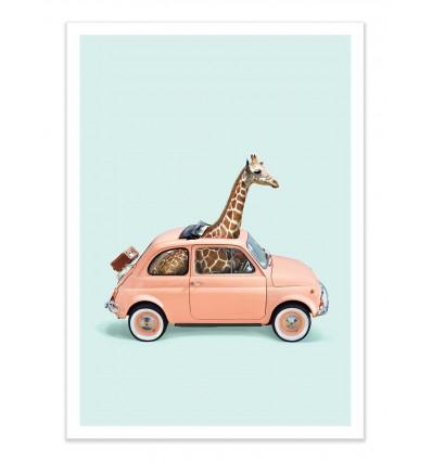 Art-Poster - Giraffe car - Paul Fuentes