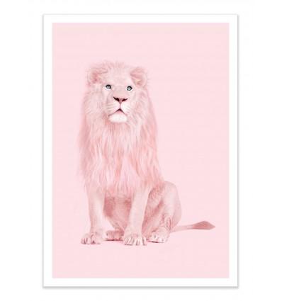 Art-Poster - Pink Lion - Paul Fuentes