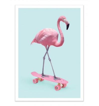 Art-Poster - Skate Flamingo - Paul Fuentes