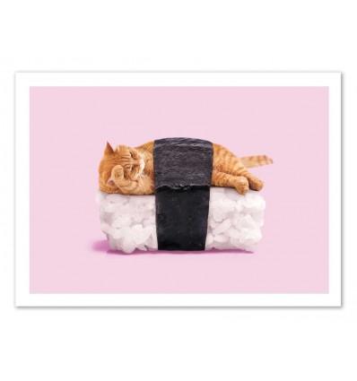 Art-Poster - Sushi Cat - Paul Fuentes