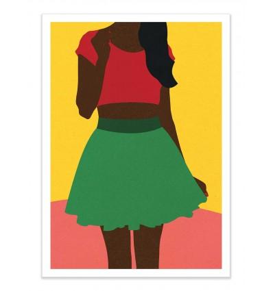 Art-Poster - Girl withtop and skirt - Rosi Feist
