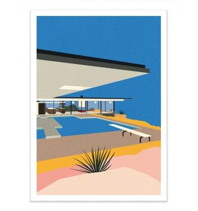 Art-Poster - LA Stahl House - Rosi Feist