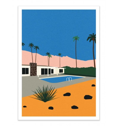 Art-Poster Pop Culture - Palm Springs Bungalow, by Rosi Feist