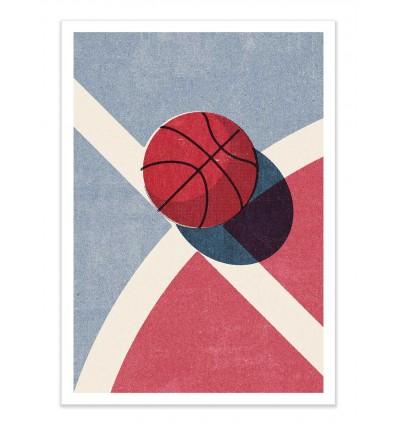 Art-Poster - Basketball Outdoor - Daniel Coulmann