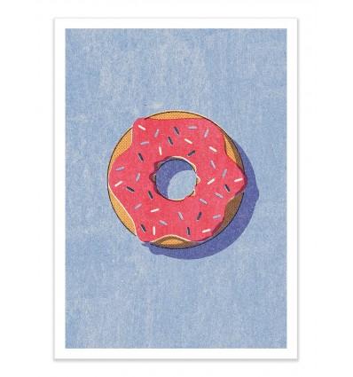 Art-Poster - Fast Food Donut - Daniel Coulmann