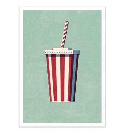 Art-Poster - Fast Food Drink - Daniel Coulmann