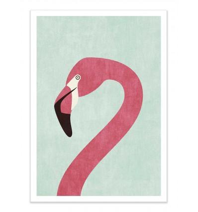 Art-Poster - Flamingo - Daniel Coulmann