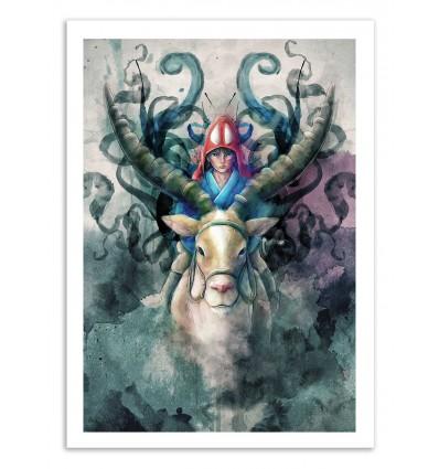 Art-Poster - Ashitaka - Barrett Biggers