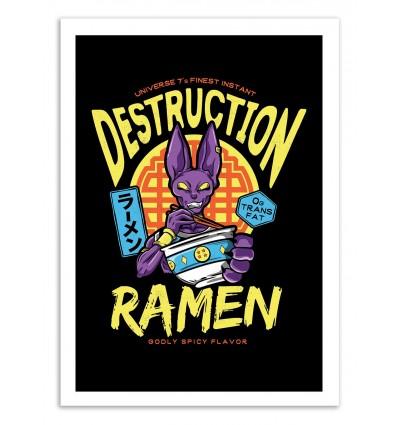 Art-Poster - Beerus Ramen - Barrett Biggers