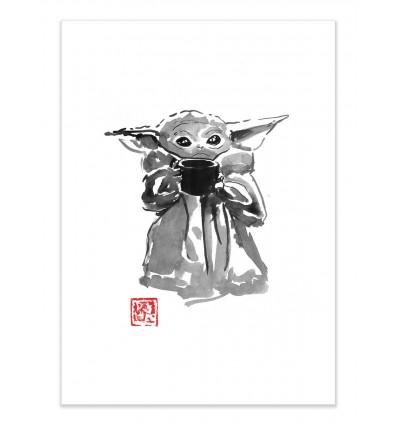 Art-Poster - Baby Yoda - Pechane Sumie