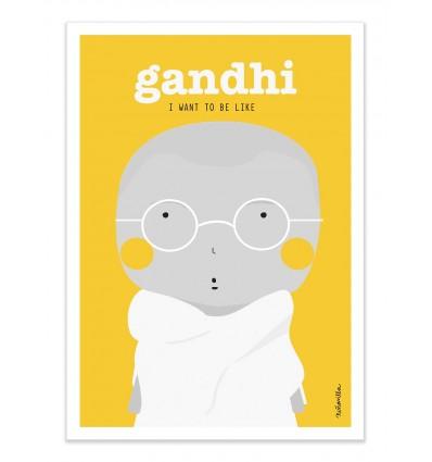 Art-Poster - Gandhi - Ninasilla