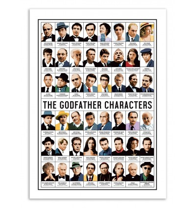 Art-Poster - The Godfather Characters - Olivier Bourdereau