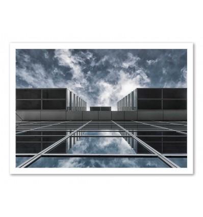 Art-Poster - Above the city - Jeroen  Van de