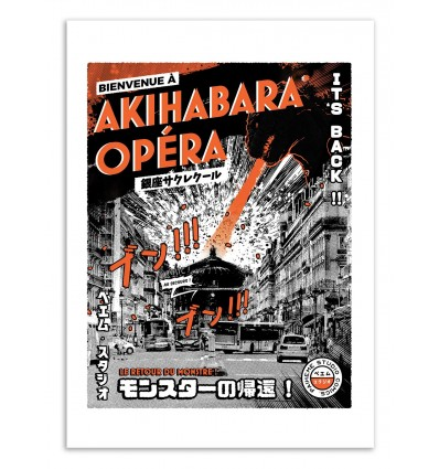 Art-Poster - Tokyo-Paris Opéra - Paiheme studio