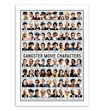 Art-Poster - Gangster Movie characters - Olivier Bourdereau