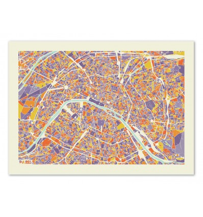Art-Poster - Paris Rainbow map - Muzungu