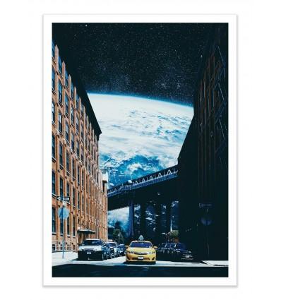 Art-Poster - Intergalactic Taxi - Tau Dal Poi