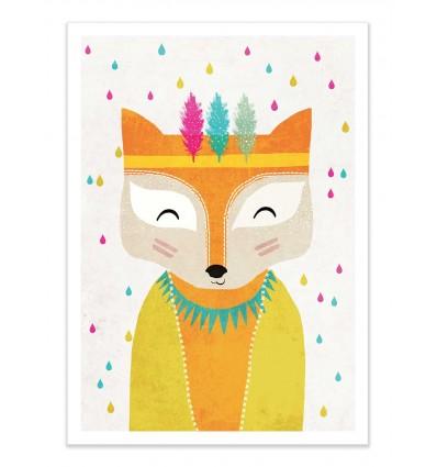Art-Poster - Regenmacher fox - Treechild
