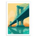 Art-Poster - Manhattan Bridge - Remko Heemskerk