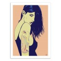Art-Poster - Tattooed Girl - Giuseppe Cristiano