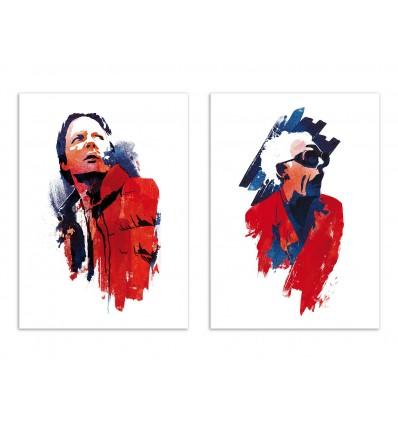 2 Art-Posters 30 x 40 cm - Retour vers le Futur