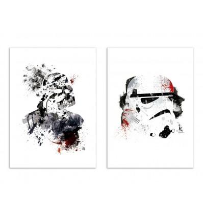 2 Art-Posters 30 x 40 cm - Vador and Storm