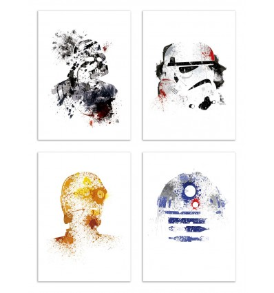 4 Art-Posters 20 x 30 cm - Star Wars - Arian Noveir