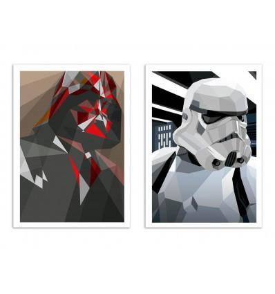 2 Art-Posters 30 x 40 cm - Vador et Storm - Liam Brazier