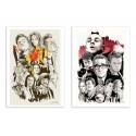 2 Art-Posters 30 x 40 cm - Tarantino and Scorsese - Joshua Budich