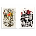 2 Art-Posters 30 x 40 cm - Tarantino et Scorsese - Joshua Budich
