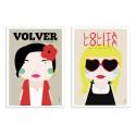 2 Art-Posters 30 x 40 cm - Volver et Lolita - Ninasilla