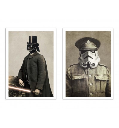 2 Art-Posters 30 x 40 cm - Vador and Storm Vintage - Terry Fan